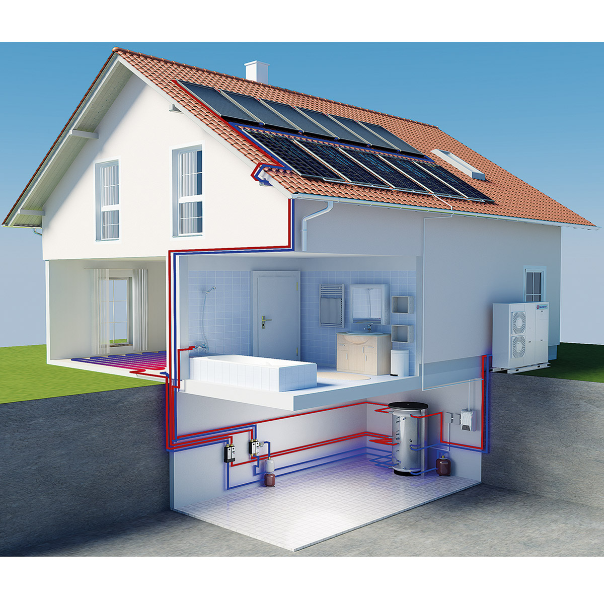 solarbayer luft wasser w rmepumpe aeromono 11 16 kw. Black Bedroom Furniture Sets. Home Design Ideas
